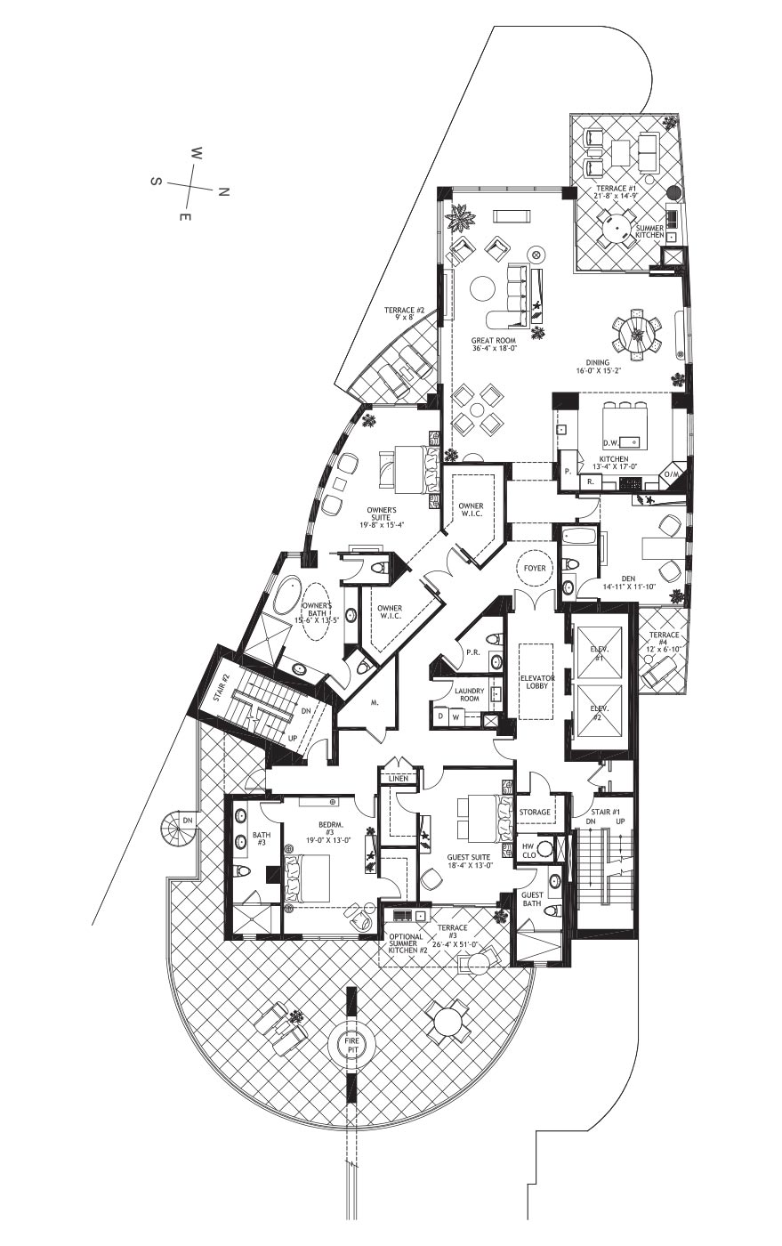 Residence Level 4 - Floor plan