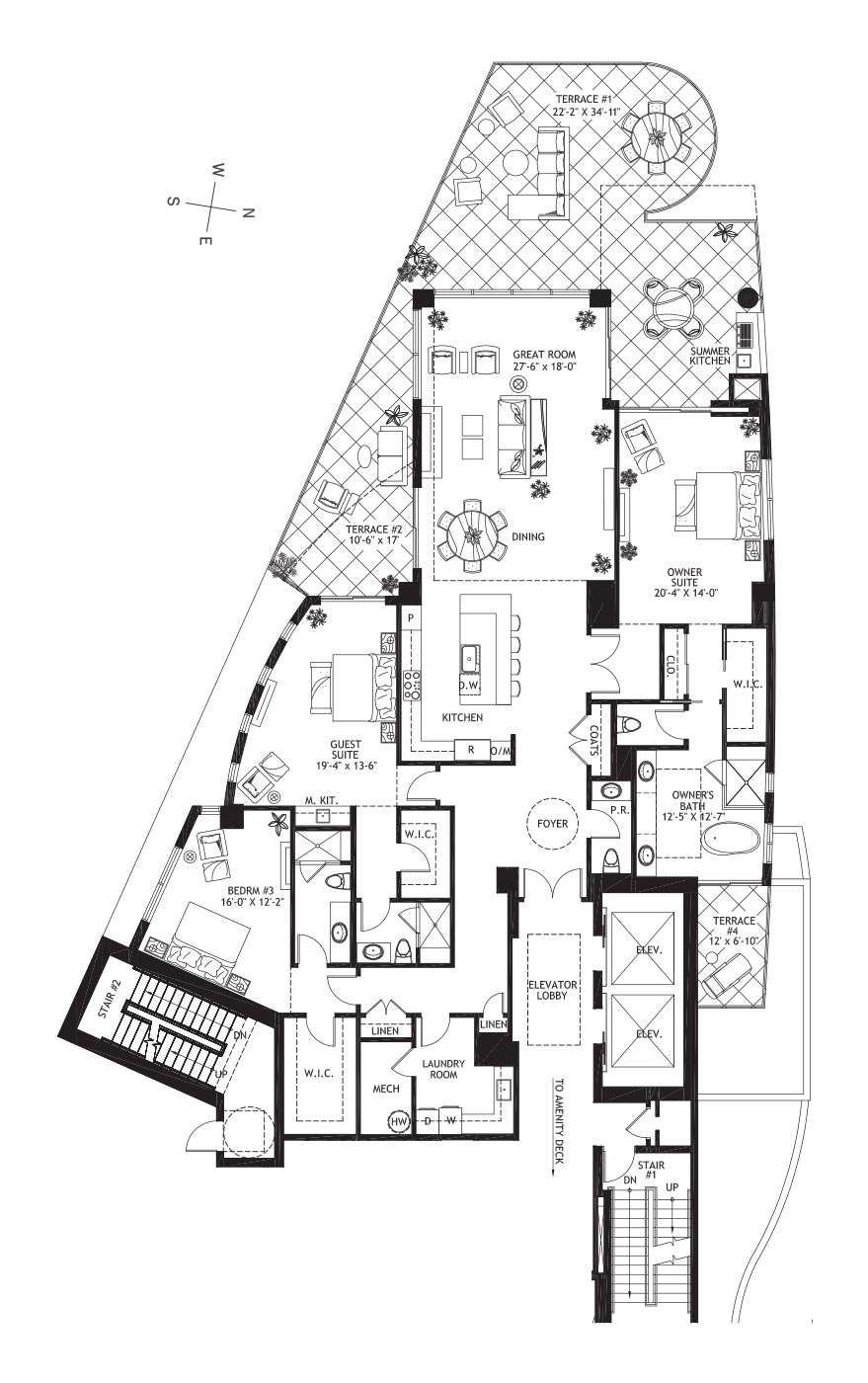 Residence Level 3 - Floor plan