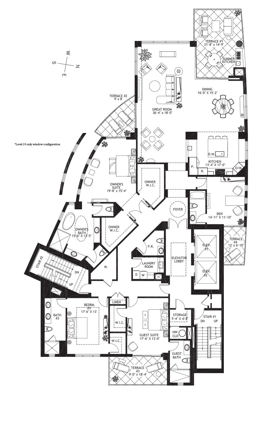 Residence Level 17-19 - Floor plan